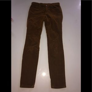 J brand corduroy Pants skinny moss 28 stretch